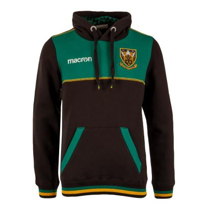 Northampton Saints Pullover Hoodie Black Kids 2019 - Front