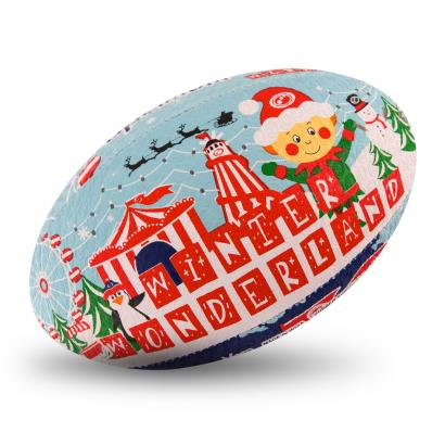 Optimum Christmas Collection Winter Wonderland Rugby Ball - Front 1