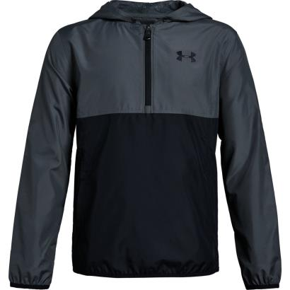 Under Armour Packable 1/2 Zip Jacket Pitch Grey Kids - Front