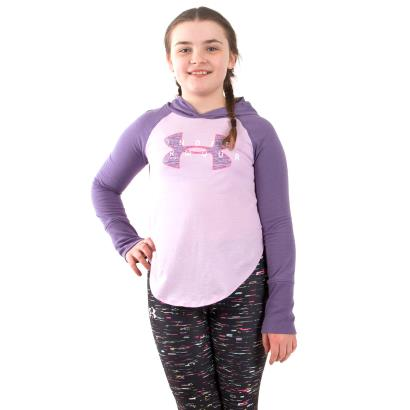 Under Armour Girls Finale Layer Hoodie Purple Luxe - Model 1