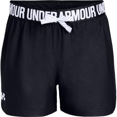 Under Armour Girls Play Up Shorts Black - Front