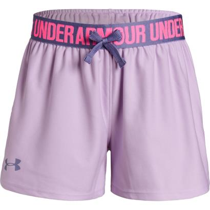 Under Armour Girls Play Up Shorts Purple Ace - Front