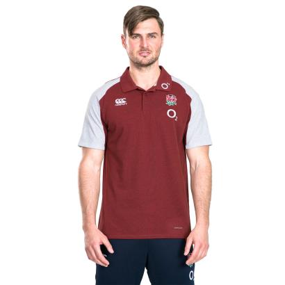 England Vapodri Cotton Pique Polo Chilli Pepper Marl 2020 - Model 1