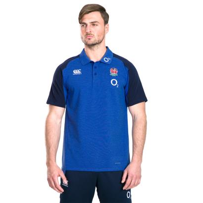 England Vapodri Cotton Pique Polo Mazarine Blue Marl 2020 - Model 1