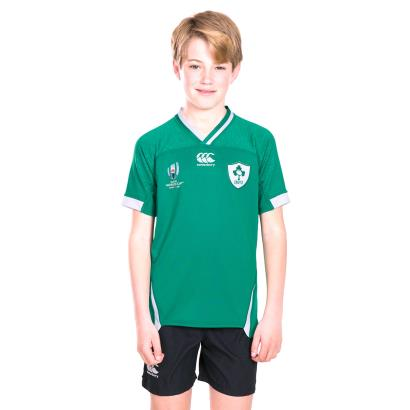 Rugby World Cup 2019 Ireland Vapodri+ Pro Home Shirt S/S Kids front