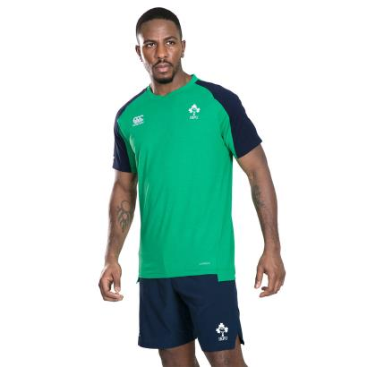 Ireland Vapodri Cotton Training Tee Green Marl 2020 front