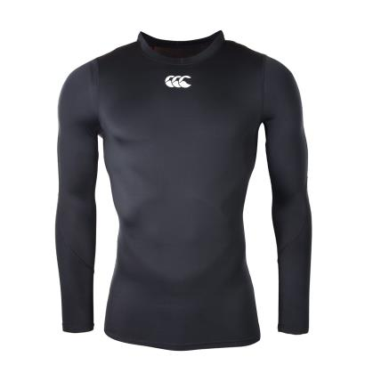 Canterbury Mercury TCR Compression L/S Top Black - Front