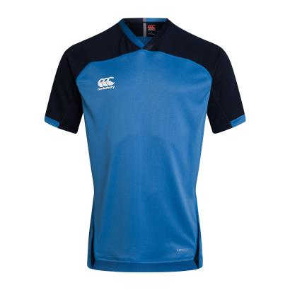Canterbury Teamwear Plain Evader Rugby Shirt Sky - Front