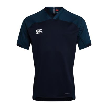 Canterbury Teamwear Plain Evader Rugby Shirt Navy - Front
