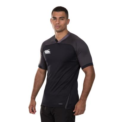 Canterbury Teamwear Plain Evader Rugby Shirt Black - Model 1