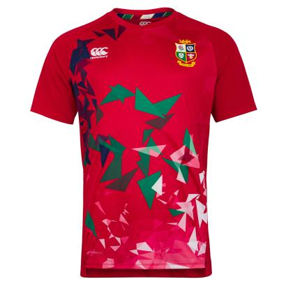 British and Irish Lions 2021 Superlight Graphic Tee Tango Red -