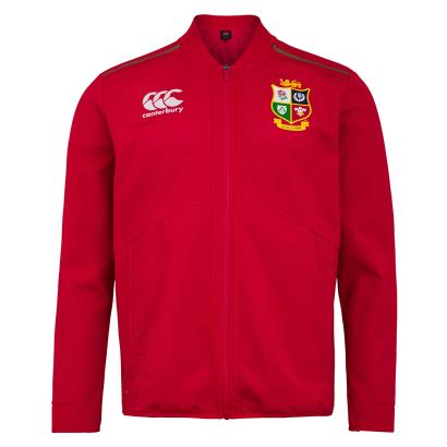 British and Irish Lions 2021 Anthem Jacket Tango Red - Front