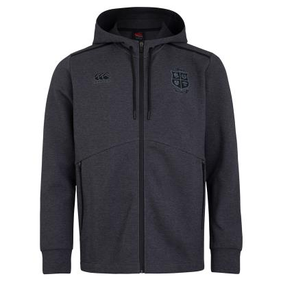 British and Irish Lions 2021 Full Zip Tech Hoodie Dark Grey Marl