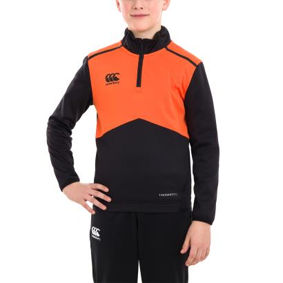 Canterbury 1/4 Zip Top Black Youths - Model 1
