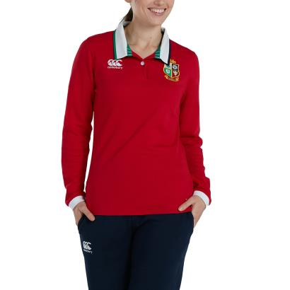 British and Irish Lions 2021 Womens Classic Rugby Shirt L/S - Model 1