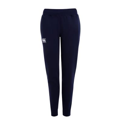 Canterbury Womens Cuffed Sweat Pants Navy - Front