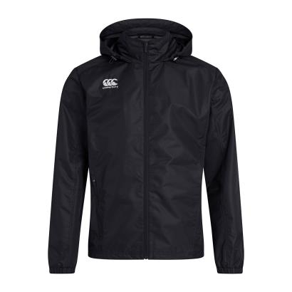 Canterbury Club Vaposhield Full Zip Rain Jacket Black Kids - Front