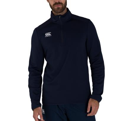 Canterbury Club 1/4 Zip Mid Layer Training Top Navy - Model
