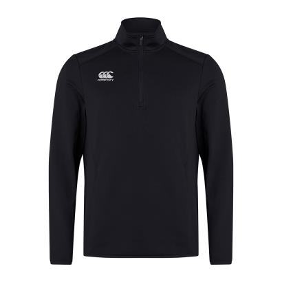 Canterbury Club 1/4 Zip Mid Layer Training Top Black - Front