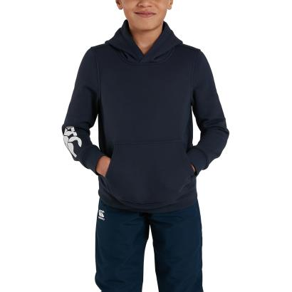 Canterbury Club Hoodie Navy Youths - Model