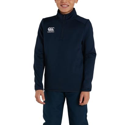 Canterbury Club 1/4 Zip Mid Layer Training Top Navy Kids - Model