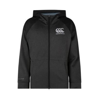 Canterbury Vaposhield Full Zip Hoodie Vanta Black Marl Kids - Front