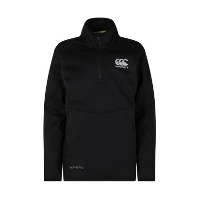 Canterbury Thermoreg Quarter Zip Fleece Black Youths - Front