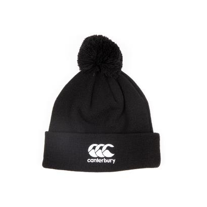 Canterbury Bobble Hat Black - Front