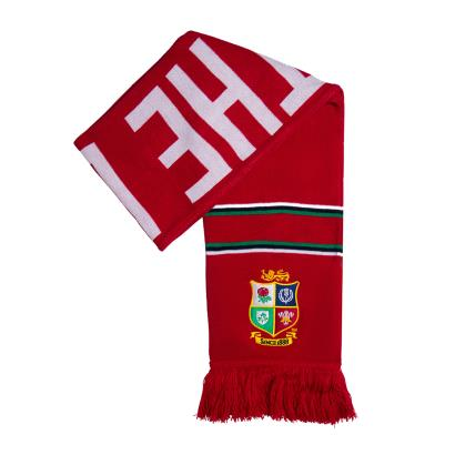 British and Irish Lions 2021 Supporters Scarf Tango Red - Front