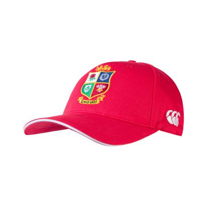 British and Irish Lions 2021 Cotton Drill Cap Tango Red - Front