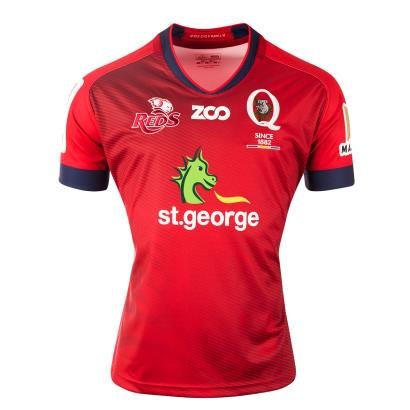 Super Rugby Queensland Reds Home Shirt S/S 2018 - Front