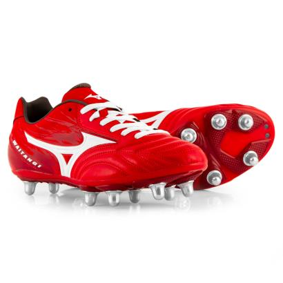 Mizuno Waitangi PS Rugby Boots Red - Front