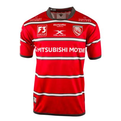 Gloucester Home Rugby Shirt S/S 2019 - Front