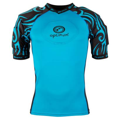 Optimum Razor Rugby Shoulder Pads Cyan - Front