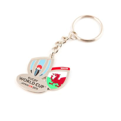 Rugby World Cup 2019 Wales Flag Keyring - Front