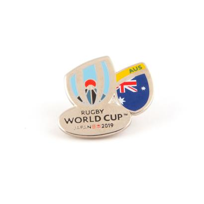 Rugby World Cup 2019 Australia Flag Pin Badge - Front