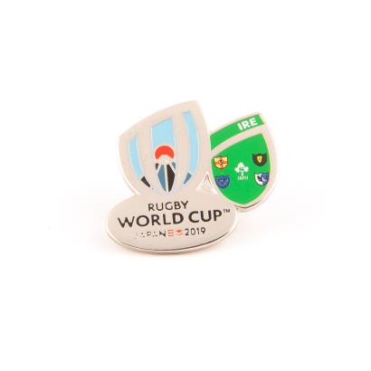Rugby World Cup 2019 Ireland Flag Pin Badge - Front
