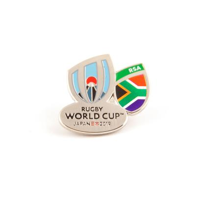 Rugby World Cup 2019 South Africa Flag Pin Badge - Front