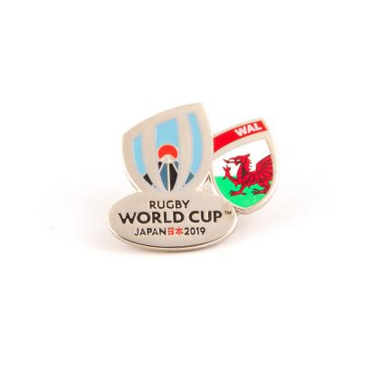 Rugby World Cup 2019 Wales Flag Pin Badge - Front