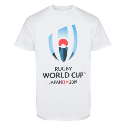 Rugby World Cup 2019 Large Logo Tee White - Front