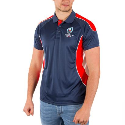 Rugby World Cup 2019 Poly Panel Polo Navy - Model