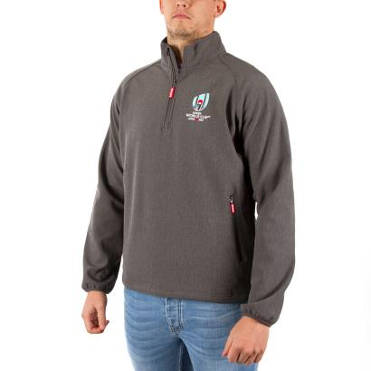 Rugby World Cup 2019 1/4 Zip Midlayer Charcoal Grey Marl - Model