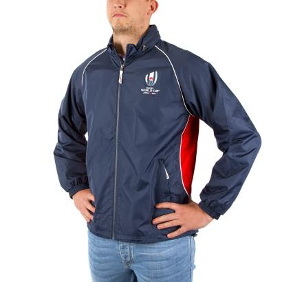 Rugby World Cup 2019 Panel Showerproof Jacket Navy - Model