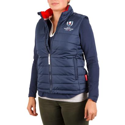 Rugby World Cup 2019 Womens Padded Gilet Navy - Model