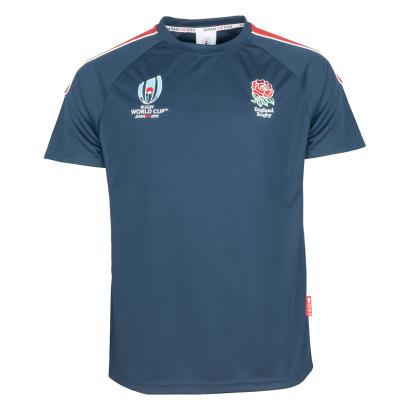 Rugby World Cup 2019 England Polyester Panel Tee Navy - Front