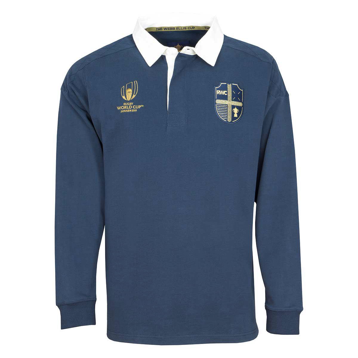 242d100b347591 ... Rugby World Cup 2019 Webb Ellis Plain Rugby Shirt L/S - Front ...