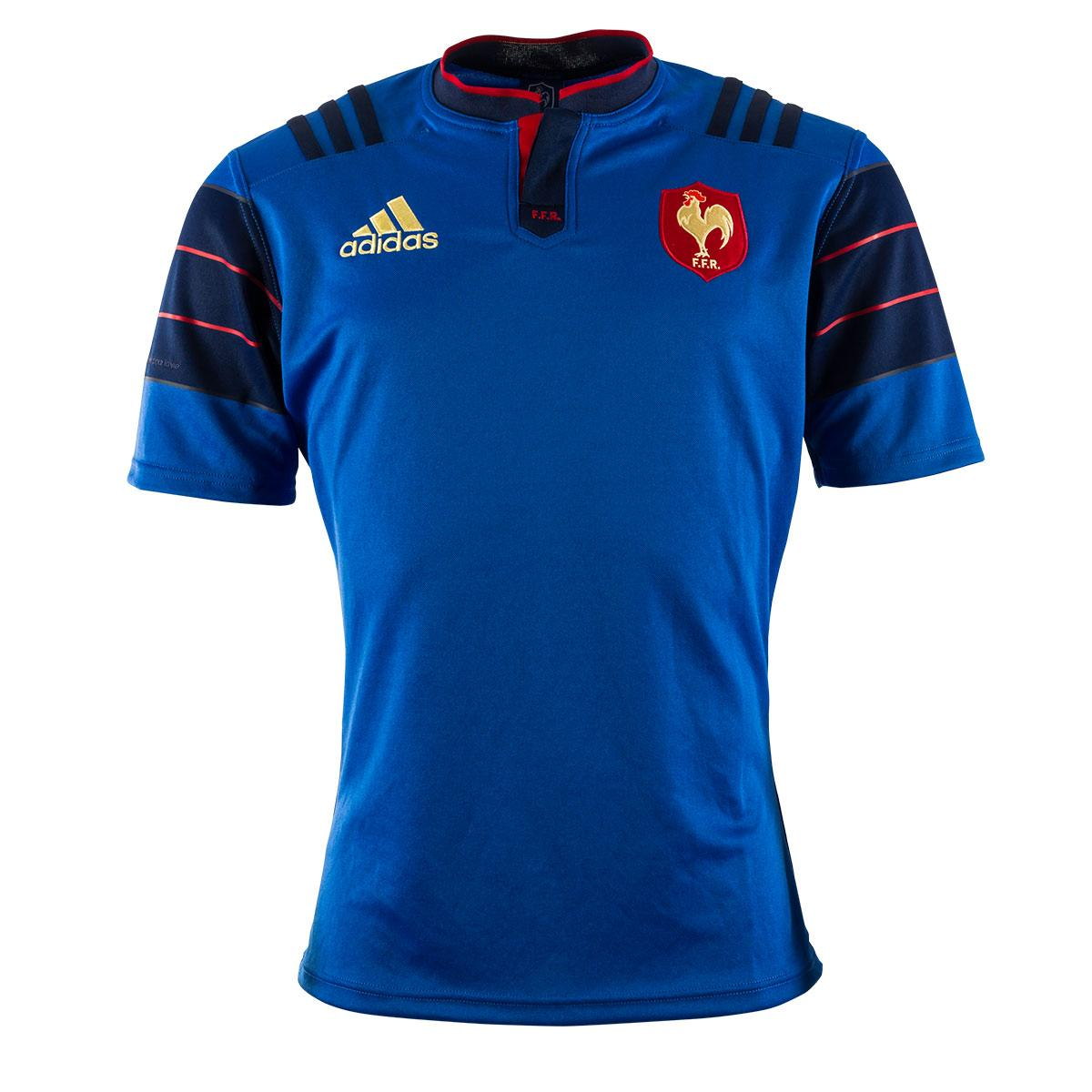 2015 mens france home rugby shirt short sleeved rugbystore