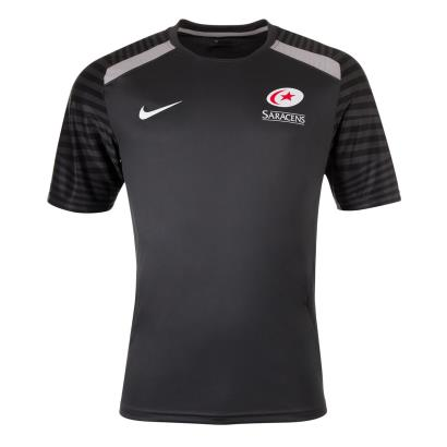Saracens Training Tee Anthracite 2021 - Front