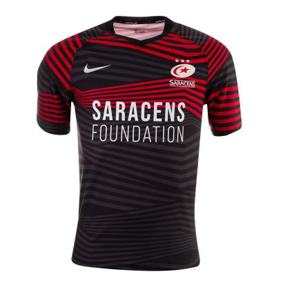 Saracens Home Rugby Shirt S/S Kids 2021 - Front