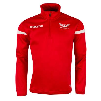 Scarlets 1/4 Zip Microfleece Red 2019 - Front